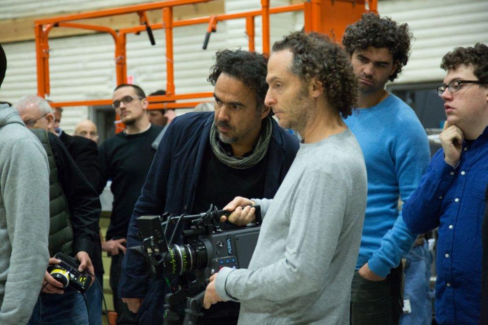 Alejandro G. Iñárritu con Emmanuel Lubezki sul set di Birdman (o Le imprevedibili virtù dell'ignoranza)