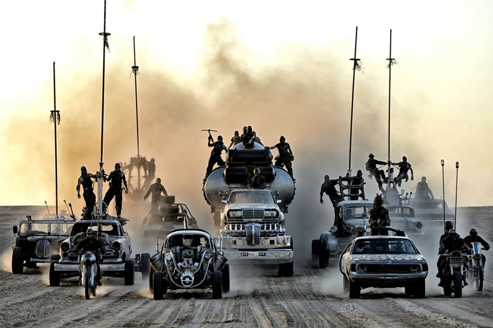 Una scena di Mad Max: Fury Road
