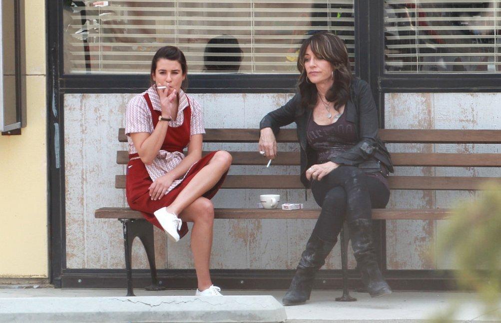 Sons of Anarchy: Lea Michele e Katey Sagal sul set