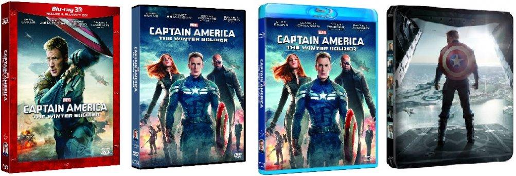 Le cover homevideo di Captain America: The Winter Soldier
