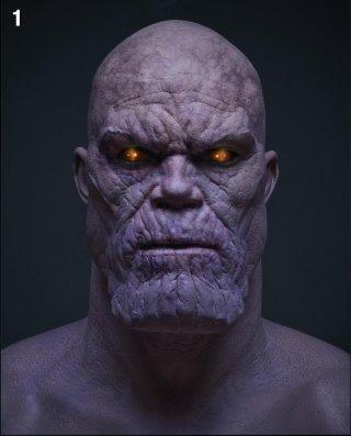 The Avengers, un concept art per Thanos