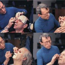 Dick Smith sul set di Amadeus