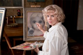 Big Eyes: Amy Adams all'opera nel suo studio
