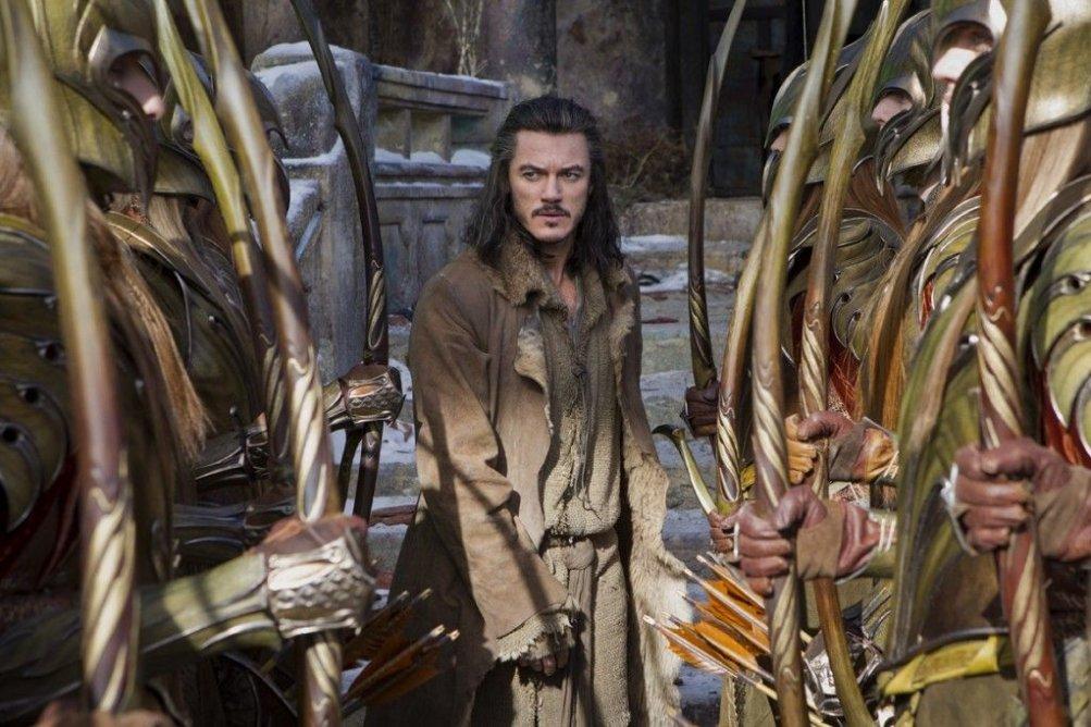 Luke Evans è Bard l'Arciere in una scena di Lo Hobbit - La battaglia delle cinque armate