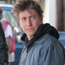 Il regista David Gordon Green sul set di Manglehorn
