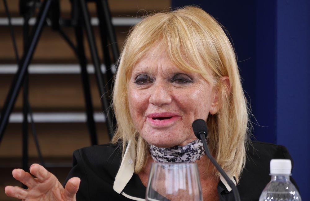 Un primo piano di Rita Pavone, ospite della 67° edizione del Festival di Locarno