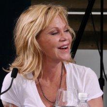 Melanie Griffith ospite di Locarno 2014 sorride al pubblico