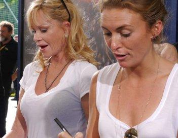 Melanie Griffith e la regista di Thirst Rachel McDonalds a Locarno 2014