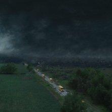 Into the Storm: la popolazione in fuga dal tornado in una scena del film