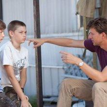 Mud: Tye Sheridan e Jacob Lofland insieme al regista Jeff Nichols sul set
