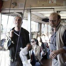 Sul vulcano: Gianfranco Pannone, regista del documentario, in una foto dal set