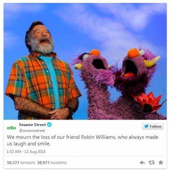 Robin Williams, il saluto dei pupazzi di Sesame Street