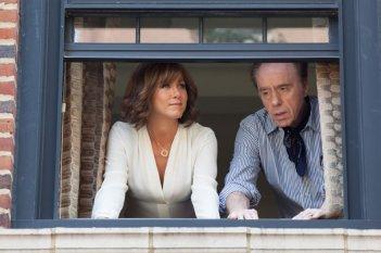 Peter Bogdanovich con Jennifer Aniston sul set di Tutto può accadere a Broadway