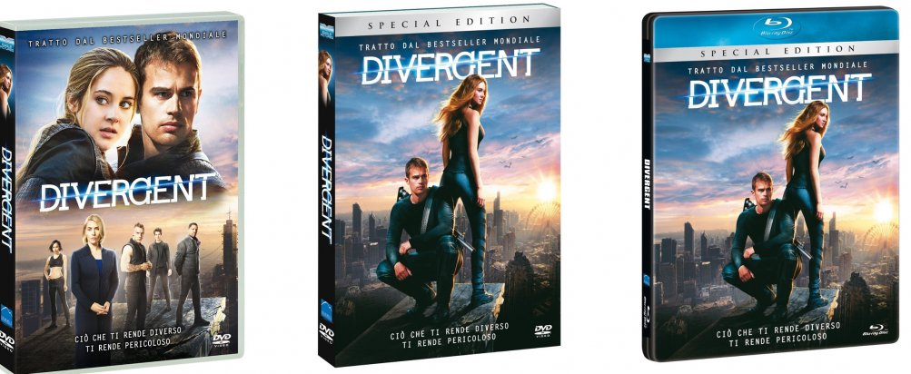 Le cover homevideo di Divergent