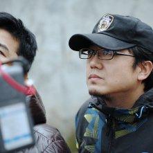 Il regista Xin Yukun sul set del film The Coffin in the Mountain