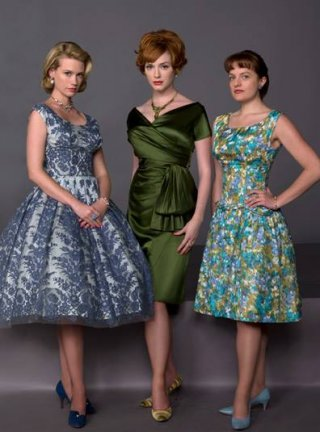 Mad Men: Elisabeth Moss, Christina Hendricks e January Jones in un'immagine promozionale