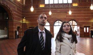 Tasneem Fared con Abdallah Sallam protagonisti del documentario Io sto con la sposa: