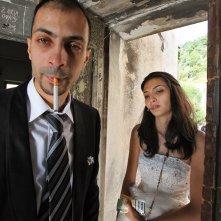 Io sto con la sposa: Tasneem Fared con Abdallah Sallam in una scena del documentario