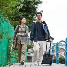 Hill of Freedom: Seo Young-Hwa con Ryô Kase in una scena del film