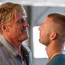 Dolph Lundgren e Glen Powell ne I mercenari 3 - The Expendables