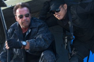 Arnold Schwarzenegger con Jet Li ne I mercenari 3 - The Expendables
