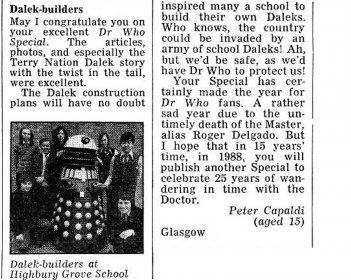 Ritaglio di quotidiano - Dalek