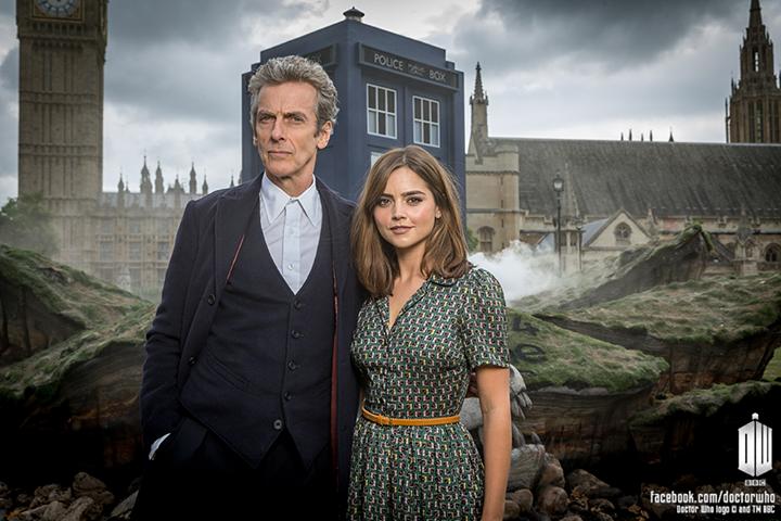 Doctor Who: Peter Capaldi e Jenna-Louise Coleman in una foto promozionale per l'ottava stagione