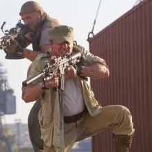 I mercenari 3 - The Expendables: Randy Couture con Sylvester Stallone in una scena del film