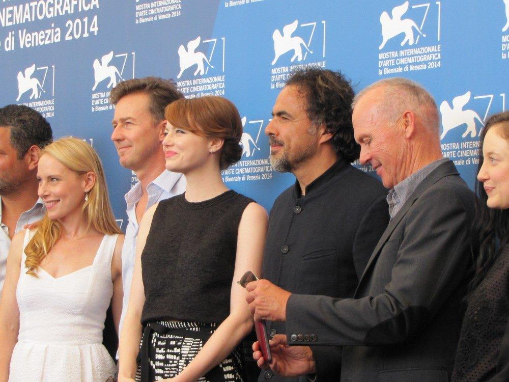Il cast di Birdman a Venezia 2014