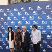 Venezia 2014: Alice Rohrwacher con gli altri giurati per il premio all'opera prima al photocall