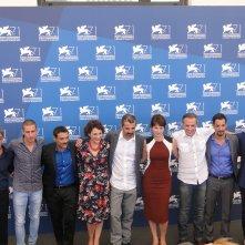 Venezia 2014: il cast di Anime nere posa al photocall