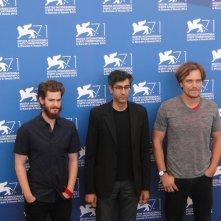 Venezia 2014: Andrew Garfield, Michael Shannon ed il regista Ramin Bahrani al photocall di 99 Homes