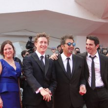 Al Pacino, Chris Messina e David Gordon Green sfilano sul tappeto rosso di Venezia 2014 per Manglehorn