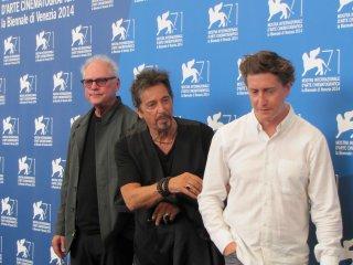 Al Pacino a Venezia 2014 con Barry Levinson e David Gordon Green per presentare Manglehorn e The Humbling