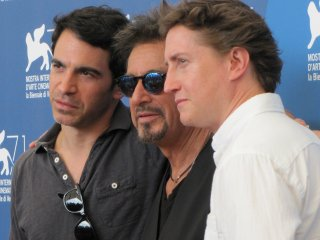 Manglehorn a Venezia 2014 - Al Pacino con David Gordon Green e Chris Messina