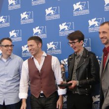 Boxtrolls: Isaac Hempstead-Wright posa con i registi Graham Annable e Anthony Stacchi e Travis Knight a Venezia 2014