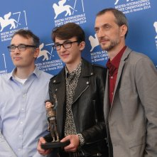 Boxtrolls: Isaac Hempstead-Wright posa con i registi Graham Annable e Anthony Stacchi a Venezia 2014