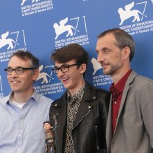 Boxtrolls: Isaac Hempstead-Wright con i registi Graham Annable e Anthony Stacchi a Venezia 2014