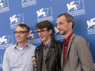 Boxtrolls: Isaac Hempstead-Wright con i registi Graham Annable e Anthony Stacchi a Venezia 2014