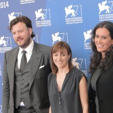 Venezia 2014: Ami Canaan Mann con i produttori Molly Hassell e  John Jencks al photocall di Jackie & Ryan