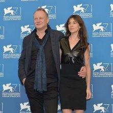 Venezia 71: Stellan Skarsgård e Charlotte Gainsbourg al photocall per Nymhomaniac - volume 2