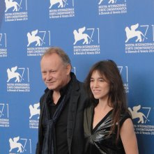 Nymphomaniac Volume II: gli interpreti Stellan Skarsgård e Charlotte Gainsbourg al photocall di Venezia 2014