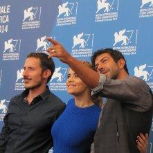 Senza nessuna pietà a Venezia 2014 - Alhaique e Favino con Greta Scarano