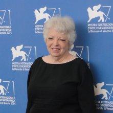Thelma Schoonmaker al photocall di Venezia 2014, dove ritira il Leone d'oro alla carriera