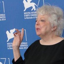 Venezia 2014: Thelma Schoonmaker, Leone d'oro alla carriera, al photocall