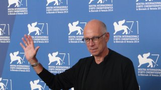 Uno scatto di Gabriele Salvatores dal photocall di Italy in a Day a Venezia 2014