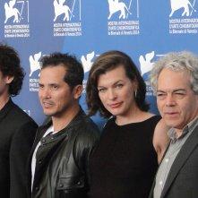 Milla Jovovich, Anton Yelchin, John Leguizamo e Michael Almereyda al photocall di Cymbeline a Venezia 2014