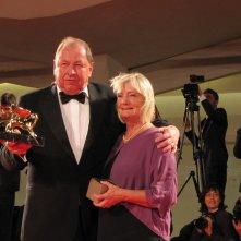 Venezia 2014 il vincitore della Mostra, Roy Andersson sul tappeto rosso della serata finale