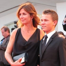 Venezia 2014, Romain Paul, interprete di The Last Hammer Blow sul red carpet della serata finale