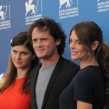 Burying the Ex alla Mostra di Venezia 2014 - i tre protagonisti del film